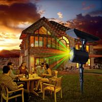 Wholesale green solar landscaping lights resale online - Solar Laser Light Static Flash Star Dots Modes Landscape Light Waterproof Fairy Laser Light Projector For X ms Garden Outdoor