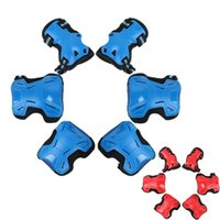 Wholesale roller skating resale online - Children Roller Skating Kneepad Cycling Red Blue Thickening Kneecap Safe Simple Fashion High Quality Protective Gear New fyD1