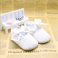 sapatas de lona do bebê infantil venda por atacado-Bebé recém-nascido Shoes Primeira Walkers Primavera Outono Baby Boy suave Sole Calçados infantil Canvas Crib Shoes 0-18 Meses