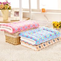 Wholesale dog blanket blue for sale - Group buy New Soft Cat Bed Rest Dog Blanket Winter Foldable Pet Cushion Hondenmand Coral Cashmere Soft Warm Sleep Mat Sweet Dream Bed