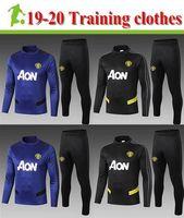 treino de treino venda por atacado-adulto agasalho 1920 Manchester United treino adultos suor manga longa paletó 2019 roupas de treinamento adulto Manchester 2020