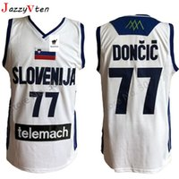 Wholesale mens throwback shirts for sale - Group buy Embroidery Mens Doncic Jersey Throwback Basketball Jersey wears slovenija Team Retro Stitched Shirts Europe College Luka JERSEY