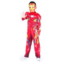 terno de traje de homem de ferro venda por atacado-Homem de Ferro Nano terno Vingadores 4 Homem De Ferro 4 trajes das Crianças de férias bola desempenho traje de Presente de Natal para crianças