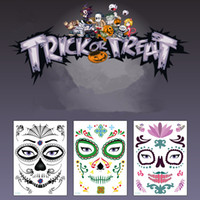 Wholesale dance makeup for sale - Group buy Halloween Christmas Party Face Sticker Waterproof Stage Props Art Makeup Face Sticker Make up Dance Dead Face Paste T9I00135