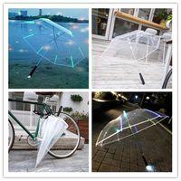 Wholesale string toys resale online - Flashing LED Luminous Umbrella Transparent Rain Umbralla Kids Women s Wedding Party Favors Lights String Toys Summer Beach Gift DHL E3403