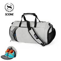 Scione New Strip Nylon Travel Spots Shoulder Bags Capacity Light Luggage  Tote Handbag Fashion Training Shoe Pack Crossbody Bag 6a9e021630
