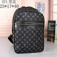 Wholesale mens school bags for sale - Group buy sale New Designers Backpack Mens Luxury Backpack hot Brand Double Shoulder Bags Male Brand School Bags Leather Shoulder Bag