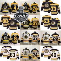 boston bruins jersey bobby orr venda por atacado-Boston Bruins 4 Bobby Orr 74 Jake DeBrusk 37 Patrice Bergeron 40 Rask 63 Brad Marchand 88 David Pastrnak Jersey