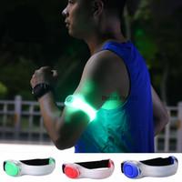 sport arm armband großhandel-Nacht Sicherheit SOS LED Running Armband Reflektierendes Licht Gürtel Arm Strap Sport Jogging Radfahren Armband Luminous Running Armband Spielzeug