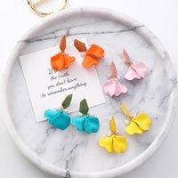 ingrosso gioielli di fiori acrilici-Orecchini coreano fiore acrilico per le donne Orecchini perline gioielli vacanza 2019 nuove ragazze gioielli orecchino di tendenza all'ingrosso Jewellry