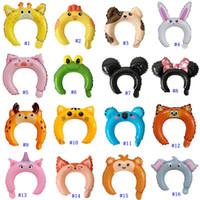 Wholesale inflatable balloon sticks for sale - Group buy Inflatable Headband Cute Animal Headband Balloon Hair Band Rabbit Ears Hairbands Balloon Head Bands Adorable Hair Sticks MMA2582