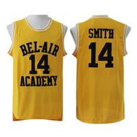 ingrosso aria di banca-Maglia da basket Will Smith da uomo The Fresh Prince of Bel Air Academy 25 Carlton Banks Verde Nero Verde Stiched Nome Numero Loghi
