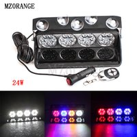 Wholesale red white emergency dash lights for sale - Group buy MZORANGE W Remote Lights LED Red Blue White Yellow Sucker Strobe Flash Warning Light Dash Emergency Flashing V V