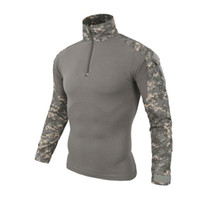 ropa de paintball camuflaje al por mayor-Multicam Uniforme Camiseta de manga larga Hombres Camuflaje Army Combat Shirt Paintball Clothes Tactical