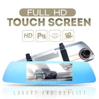 Wholesale free screen recorders for sale - Group buy 7 Inch P degree Car DVR Dual Lens Touch Screen Rearview Mirror Video Recorder Dash Cam Parking Monitor Night Vision H71
