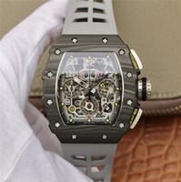 mm silicone caso venda por atacado-KV rm11-03 montre de luxe retorno temporização movimento automático relógios designer de aço titânio caso cinta de silicone relógios fivela dobrável