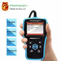 Wholesale obd2 code reader creader resale online - Topdon OBDCAN Plus Auto Code Reader Full OBD2 Scanner OBDII Car Diagnostics Tool Read and Clear Engine Codes PK Creader