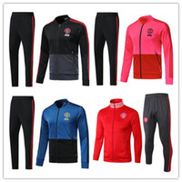 2018 2019 UTD tracksuit Survetement set POGBA football JACKET kit Soccer  Chandal 18 19 LUKAKU united jacket training pant sweater suit 0b3fdcb2313ae