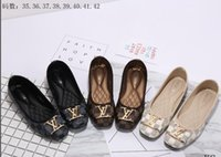 Wholesale big fish sandals resale online - Brand Women Sandals big size Designer Shoes Luxury flip flops sandals Summer Fashion Wide Flat Slippery With Sandals Slipper flip flops