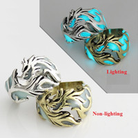 Wholesale flying hand toy for sale - Group buy 4 Styles Retro Men and Woman Ring Toys MM Alloy Flying dragon Luminous Hand Ornaments L362