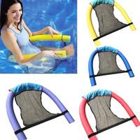 çocuklar havuzları toptan satış-Polyester Yüzer Havuz Şehriye Sling Mesh Sandalye Net Yüzme Havuzu parti Çocuk Yatak Koltuk Için Su Gevşeme Boyutu 82X44X0.2 cm