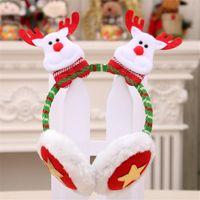 Christmas Gift Transparent Festival Pattern Winter Earmuffs Ear Warmers Faux Fur Foldable Plush Outdoor Gift