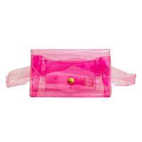 ingrosso sacchetti di rosa trasparenti-NUOVO Marsupio Borsa a tracolla rosa Borsa a tracolla Borsa da viaggio Borsa a tracolla da spiaggia Borsa da donna Trasparente Jelly Chest Handbags Bolsas