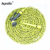 Wholesale expandable hose 75ft gun for sale - Group buy High Quality FT FT Garden Expandable Hose Set Water Hose with Pattern Plastic Spray Gun to Watering