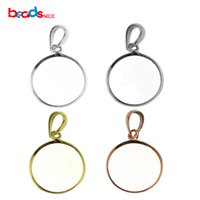 Wholesale diy jewelry trays for sale - Group buy Beadsnice pure sterling silver pendant tray round bezel pendant blanks diy sterling silver jewelry ID27603