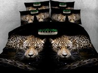 одеяла оптовых-Leopard Bedding set  Comforter bedspread bed sheet sheets duvet cover Animal print Super King Queen size full twin 5PCS