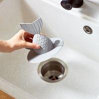 depo türleri toptan satış-Mutfak Havuz Tak Fishtail Su Deposu Kanalizasyon Yer Sifonu Kapak Yayın Türü Plugging Su Lavabo tıpa Sıcak Satılık 4 8bx3 Şekle