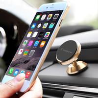 ingrosso auto accessori per telefoni cellulari-America Staffa auto Supporto universale per auto da 360 gradi Supporto magnetico per presa d'aria Supporto per telefono cellulare Supporto per cellulare Accessori per telefoni cellulari