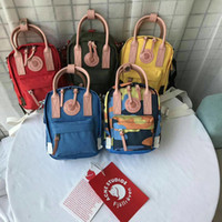 Wholesale pu backpack fox for sale - Group buy Swedish Fox Student Waterproof Backpack Canvas Shoulder Bag Men And Women Fashion Style Design Bag Junior High School Brand Sports Handbag