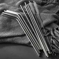 Wholesale stainless steel kitchen appliances for sale - Group buy Small kitchen Appliances Reusable Drinking Straw For Stainless Steel Metal Straw with Cleaner Brush For Mugs oz