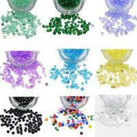 düğün konfeti 4.5mm toptan satış-Şeker Colors-1000pcs 4.5mm Elmas Konfeti Vazo Dolgu Parti-Dekorasyon Düğün Akrilik-Boncuk Düğün Gelin Duş Masa Dağılım 067