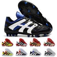 boy 6.5 ayakkabı toptan satış-2019 Predator Hızlandırıcı Futbol Çizmeler Elektrik FG 98 Klasik Futbol Boots Futbol Cleats Ayakkabı Boyutu ABD 6.5-11