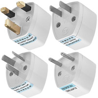 Wholesale uk outlet adapter resale online - Universal Travel adapter Plug Outlet Worldwide V AC Adaptor Socket in US EU AU UK Power adaptor Converter