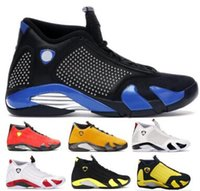 zapatos de caramelos rojos al por mayor-14 14s Diseñador Hombre Zapatillas de baloncesto Zapatillas de deporte de gamuza roja Emerge Rip Hamilton Candy Cane Desert Sand Thunder XIV Sports Nuevo Chaussure Shoes
