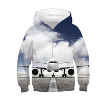 Wholesale sky airplane for sale - Group buy 2019 Autumn Winter Boy Girl d Hoodies Print Taking Off AirPlane Blue Sky Cloud Sweatshirts Children Kids Fashion Pullover Tops