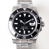 Wholesale water resistant watches free shipping for sale - Group buy N High Buality Factory V7 Luxury Watch Mens Automatic Eta Watches LN Dive Sapphire Watches DHL Wristwatch