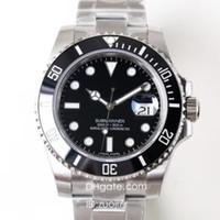 eta 2836 automático al por mayor-N High Buality Factory V7 Reloj de lujo para hombre Automático Eta 2836 Relojes 116610LN Relojes de buceo con zafiro DHL Reloj de pulsera con envío gratuito