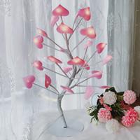 rosa mädchen lampe großhandel-LED Liebe Farbe Lichter Mädchen Teenager Herz Raumdekoration Kleine Tischlampe Geschenk Romantische Schlafzimmer Dekor Rosa Kreative 34xbC1