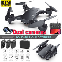 Wholesale camera fixing resale online - Dual Camera Drone K P P Mini Folding Fixed Height Aircraft Gesture Photo Four Axis Aerial Remote Control Helicopter drones Toy E60