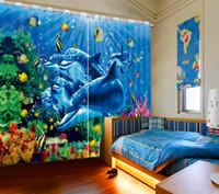 cortinas decorativas do pano de fundo venda por atacado-Cortina de porta decorativa foto pintura cortinas de foto 3D Blackout pano de fundo cortina cozinha janela