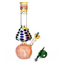 tip borular toptan satış-Mantar bong su borusu Zob Hitman Tipi Düz tüp renkli beher bongs el yapımı dab kuleleri yağ heady cam borular