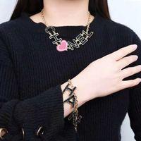 asiatische mädchen mode großhandel-Europa und Amerika Neue Mode Frauen Schmuck Vergoldet Brief Halskette Beacelets für Mädchen Frauen für Party Hochzeit Heißer Geschenk