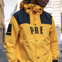 Wholesale women s long purple coat resale online - 19SS BOX LOGO X TheNF Arc Logo Mountain Parka Men Women Jacket Casual Street Skateboard Hip Hop Coat Sport Outwear Jacket HFLSJK319