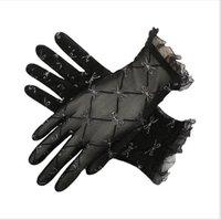 seksi elmas dantel gelinlik toptan satış-Moda elmas elmas ile moda yaz dantel güneş koruyucu eldiven sürüş payetler gelinlik aksesuarları zarif ve seksi
