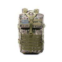 mochila tática verde venda por atacado-Homem de caça Grande Capacidade 45 L Mochilas de Assalto Tático Do Exército Molle Pack Para Trekking Camping Saco Verde Do Exército