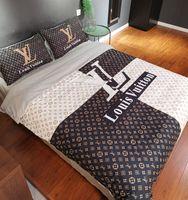 Wholesale designer bedding sets resale online - Branded Adult Letter Print Cotton Home Bedding Set Designer Bed Sheets Fashion Cotton Cover Pillow Cases Classic Soft Duvet Cover